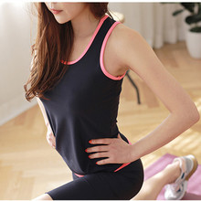 Quickly Dry Yoga Tops Gym Fitness Tight Running Vests Girls Sleeveless Sport Shirt