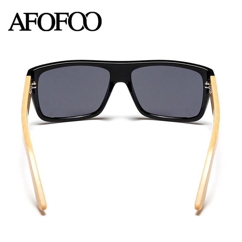 AFOFOO New Fashion Bamboo Sunglasses Men Sun glasses Brand Designer Women Mirror Original Eyewear Oculos de sol Masculino