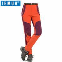 IEMUH Brand S 4XL Winter Women Hiking Pants Outdoor Softshell Trousers Waterproof Windproof Thermal Camping Ski