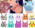 Harajuku Сексуальные Девушки Косплей Костюм Pokemon Go Pocket Monster Sailor Moon Кристалл Урожай Топы Жилет Топы Рубашка