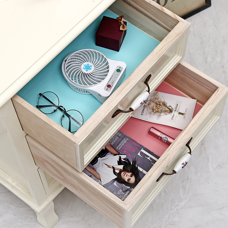 US $4.24 15% OFF|Silicone Storage Drawers Mat Pad Kitchen Cabinet Shelf  Liners Table Decoration Accessories Household Merchandises Stuff-in Mats &  ...