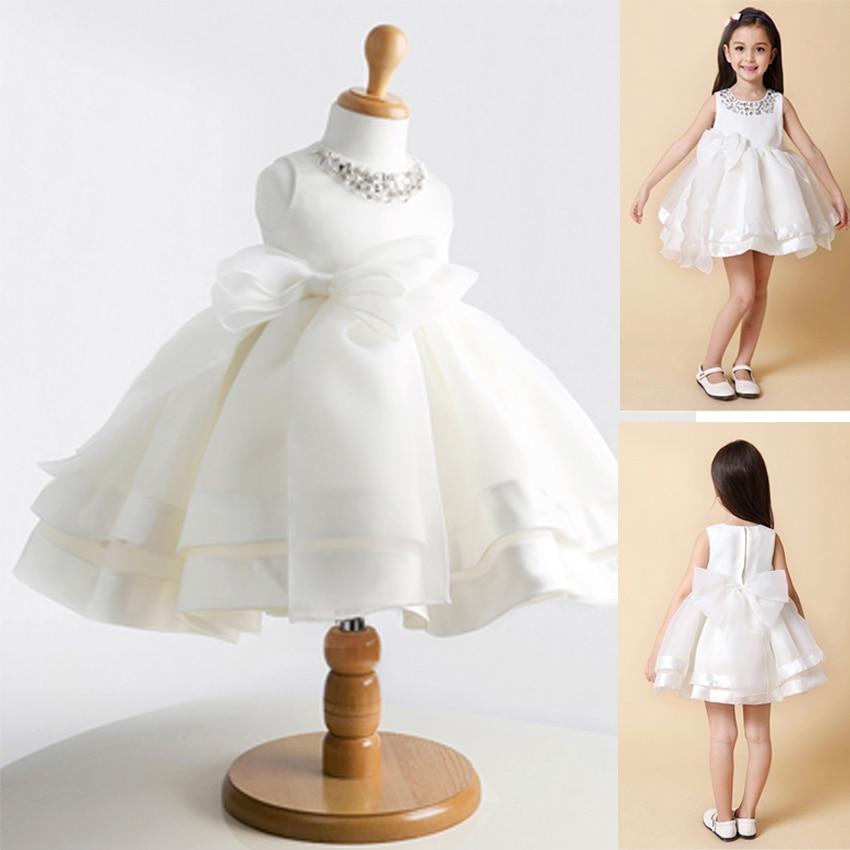 2020 toddler girls white wedding dress kids clothes white birthday party princess children costume baby girls tutu dress infant summer bc1412