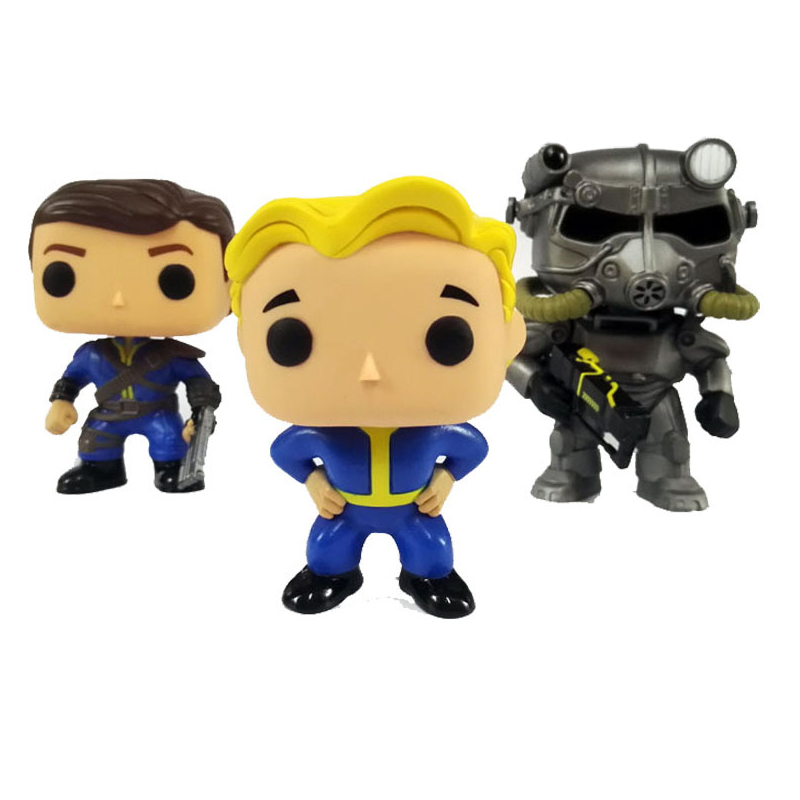 FALLOUT LONE WANDERER & VAULT BOY & POWER ARMOR Character 10cm Action Figure Toys