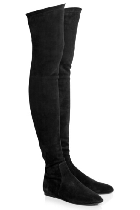 11c26793c New Design 2015 Black Suede Thigh High Boots Flat Over The Knee Winter  Botas Mujer Cosy Women Shoes