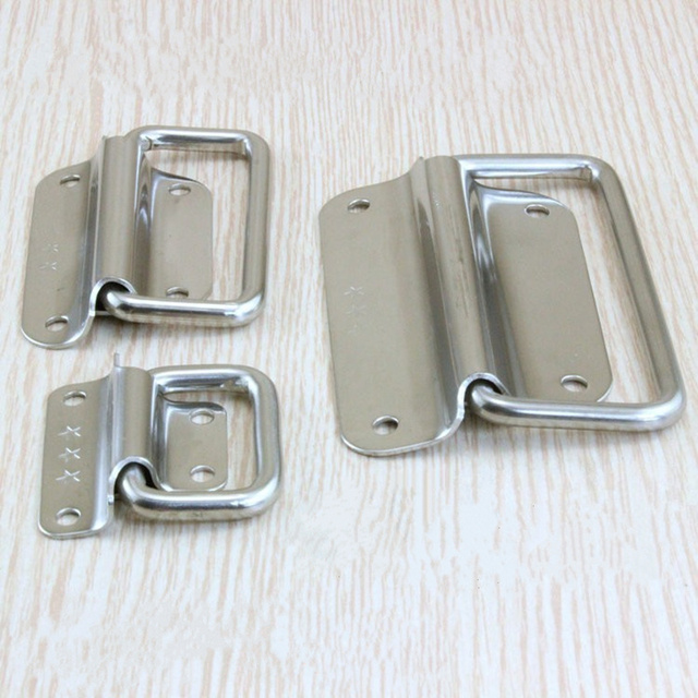 4PCS Thick stainless steel folding cabinet knobs and handles trunk tool box handles drawer pull  furniture accessories hardware