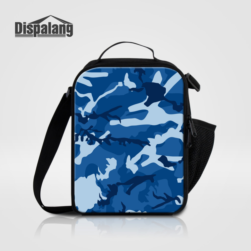 Dispalang Camouflage Lunch Thermal Cooler Bag for Kids Food Storage Bag Cool Camo Insulation Small Lunch Bag For Men Women