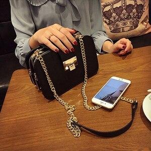 Image 2 - Fggs春の新ファッションの女性のショルダーバッグチェーンストラップフラップデザイナーハンドバッグクラッチの女性のメッセンジャーバッグ金属降圧