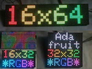 US $35 0 |16x32, 16x64 & 32x32 Full Colour RGB LED Matrix's for Arduino and  Raspberry Pi  Adafruit 420 & 1484 compatible-in LED Displays from