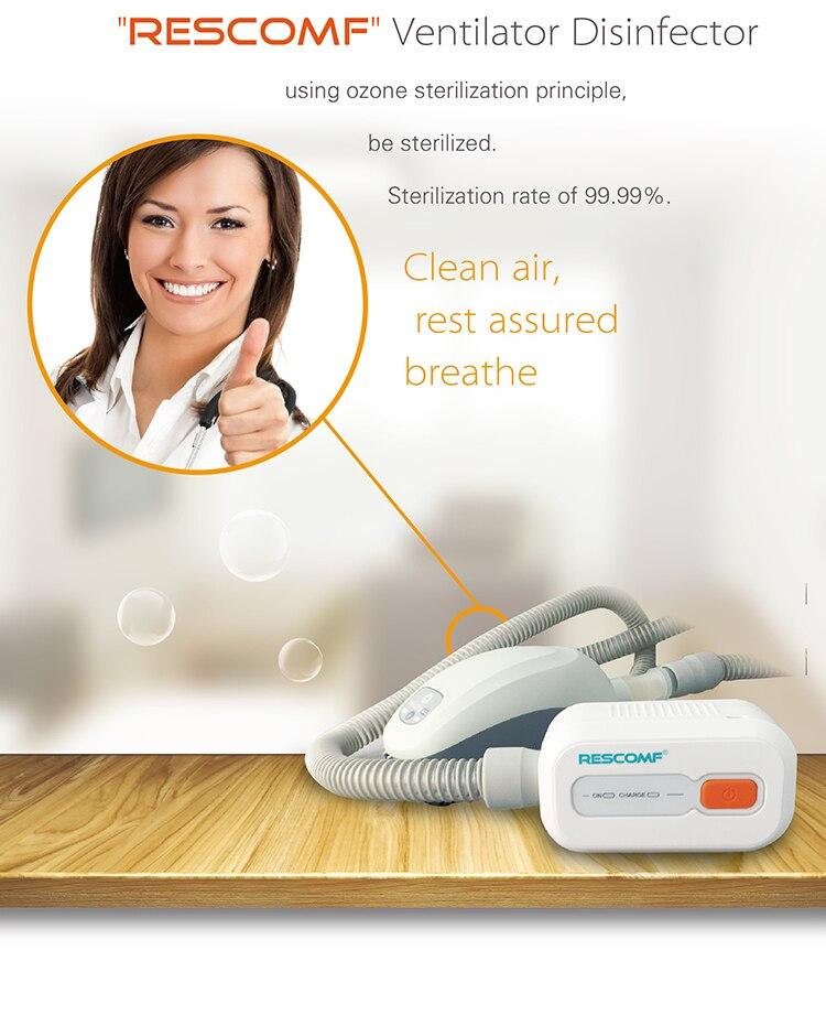Limpiador y desinfectante de C-pap | Kit de limpieza de limpiador de máquina de Bipap Cpap Apap para tubo y máscara respirónica Resmed