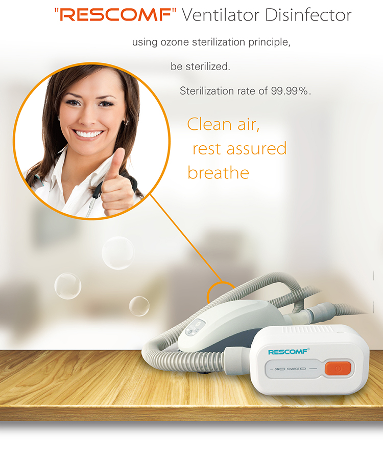 Rescomf Cpap Cleaner Sanitizer |Cpap Apap Bipap Machine Disinfector Sterilizer Cleaning Kit For Resmed Respironics Tube And Mask