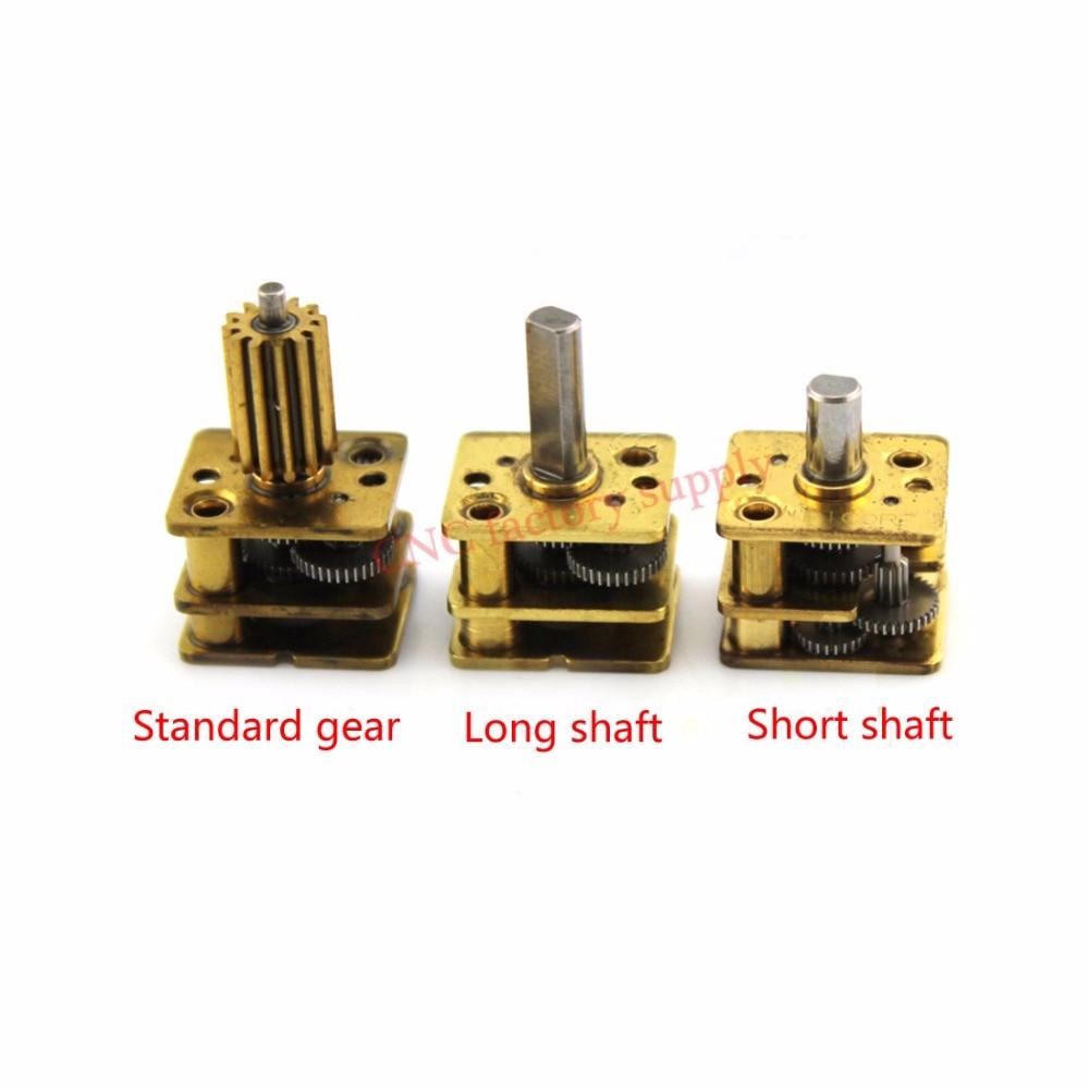5pcs/lot N20 deceleration head metal structure copper reduction gearbox miniature steel gear for DIY accessories