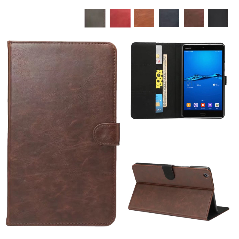 Crazy horse Leather Case Cover for Huawei Mediapad M3 Lite 8.0 Stand Hand Holder Case for Huawei M3 lite 8.0 with Card Slots pu leather cover for huawei m3 lite 8 0 stand case with stylus holder for huawei mediapad m3 lite 8 0 cpn al00 w09 tablet case