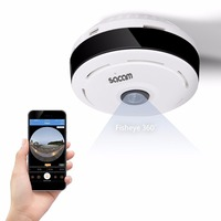 WiFi IP Convert Camera With Fisheye Lens HD 1080P Wireless WiFi Security Camera Wide Angle 180