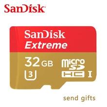 100 original free shipping SanDisk Memory Card Extreme microSD UHS-I microSDXC Class10 U3 90MB/S 32GB TF Card Support 4K UHD