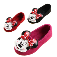 new arrival fashion sneaker children girls single shoes cute cartoon princess flat shoes kids girl dance shoes