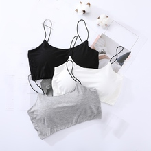 Women Crop Top Bra Breathable Chest Padded Wearing Underwear Strapless Tube