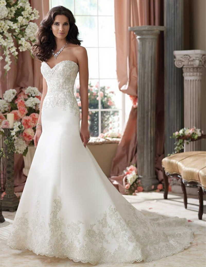 sweetheart fishtail wedding dresses | Wedding