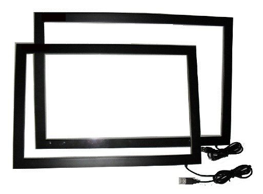 IR 32 Inch Multi Touch Screen Overlay,Real 6 points IR Multi Touch Screen with glass for Kiosk