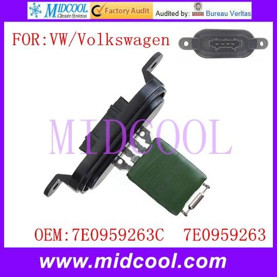 New Blower Motor Resistor Regulator use OE NO 7E0959263C 7E0959263 for VW Volkswagen Multivan Touareg Transporter
