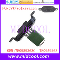Novo uso Blower Motor Resistor Regulador OE NO. 7E0959263C, 7e0959263 para vw volkswagen transporter multivan touareg