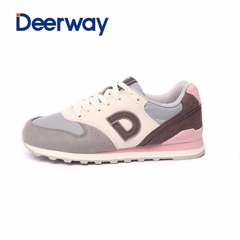 Deerway hot sale running shoes cheap sneakers women sapatilhas mulher sports feminino esportivo  Leather mesh Medium(B,M)