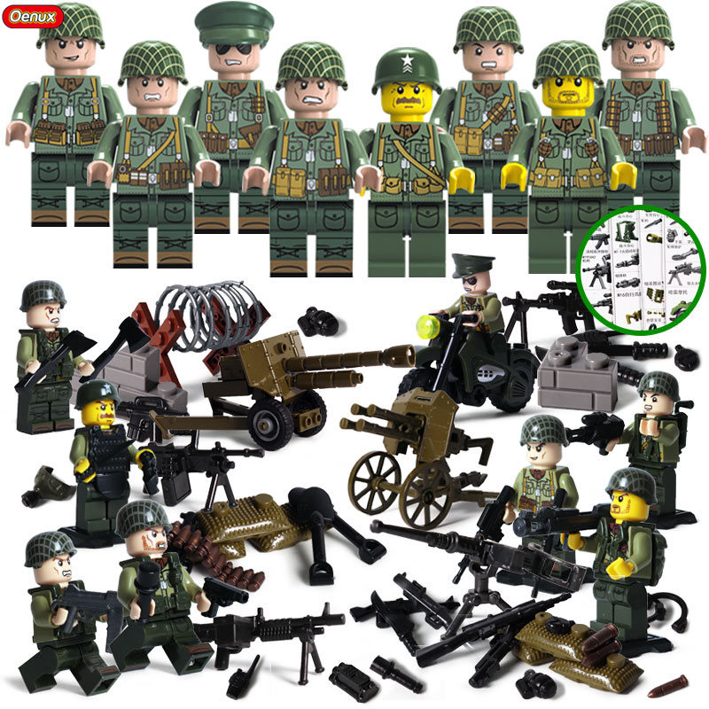 LEGO 8 NEW CIVIL WAR MINIFIGS WITH CANNON AND WEAPONS UNITED STATES ARMY FIGS