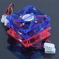 Ventiladores de refrigeración de la CPU Del Disipador de calor 4 de Luz LED para PC Computer Case 80x80x25mm 4 Pines