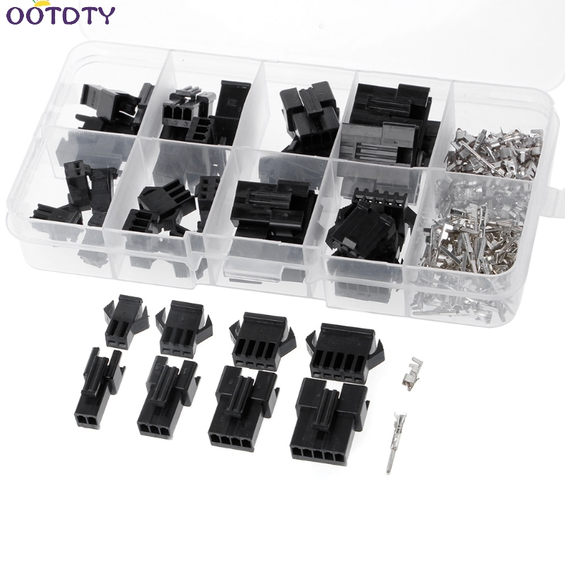 SM 20 Sets 2p 3p 4p 5 pin 2.54mm Pitch Female Male Header Connectors Adaptor