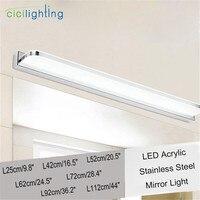 Modern Novelty Art Design 40 60 80 100 120cm Long LED Acrylic Rectangle Cabinet Bathroom Mirror