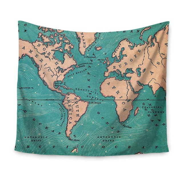 Drop shipping world map indian tapestry hippie wall hanging drop shipping world map indian tapestry hippie wall hanging tapestries boho bedspread beach towel yoga mat blanket table cloth in tapestry from home gumiabroncs Gallery