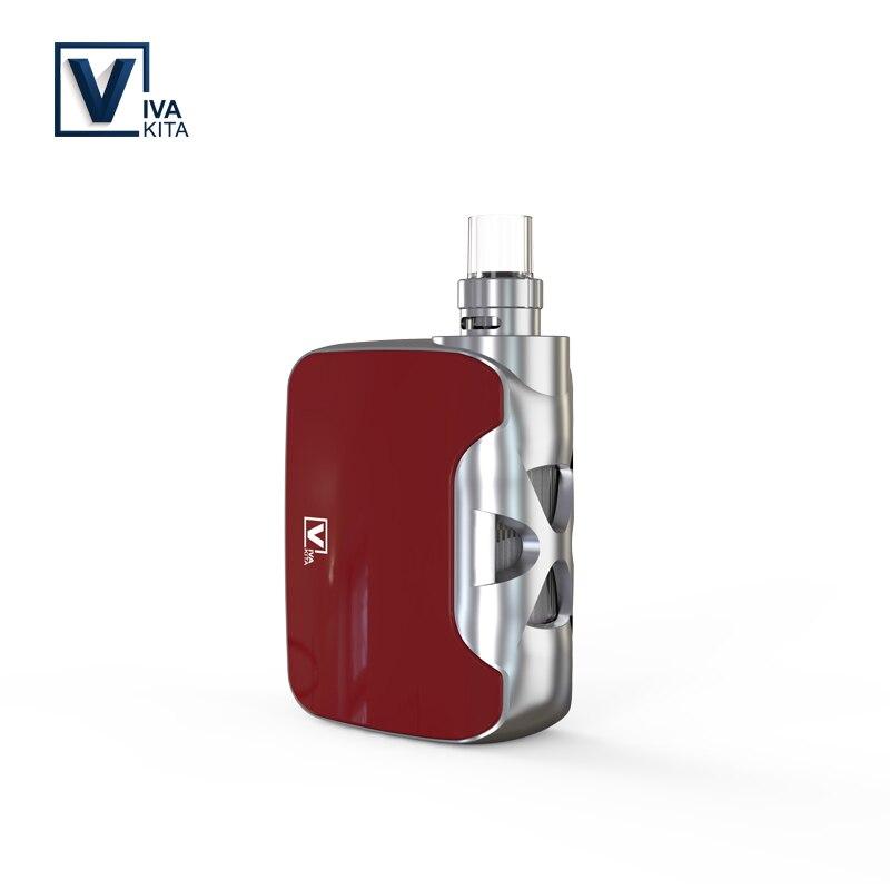 Cigarette électronique VivaKita Vape kit Fusion 1500mah 50W tout-en-un vaporisateur vape mod 0.25ohm intégré évaporateur livraison directe