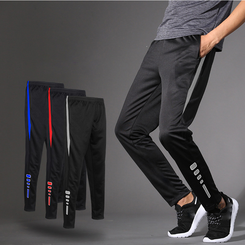 Sports Soccer Pant Men's Summer Thin Section Running Pants Fitness Training Football Pants Quick-drying Breathable Loose Casual