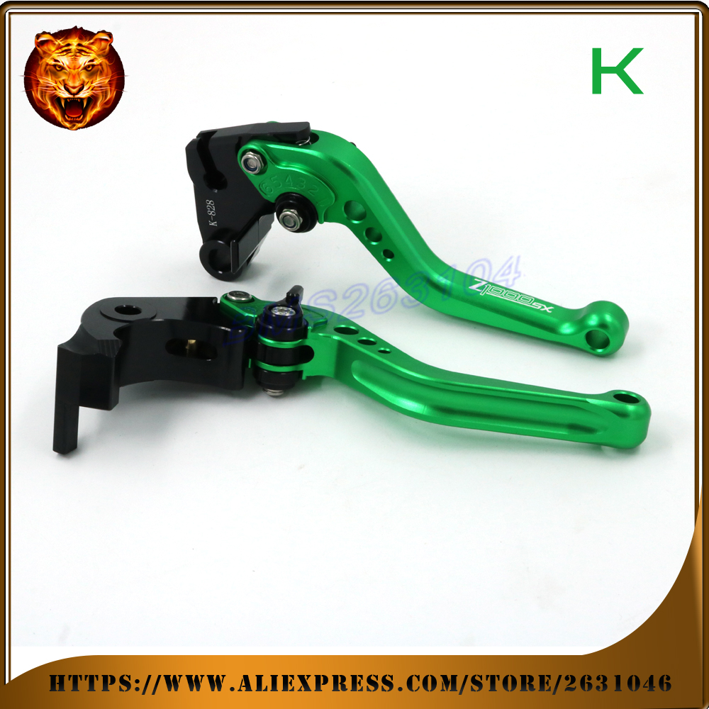 Adjustable  Brake Clutch Levers For KAWASAKI Z1000SX NINJA 1000 TOURER 2011 12 13 14 15 16 FREE SHIPPING  WITH LOGO  Motorcycle billet adjustable long folding brake clutch levers for kawasaki zx6r zx10r ninja z750r z1000sx tourer 06 07 08 09 10 11 12 13 14