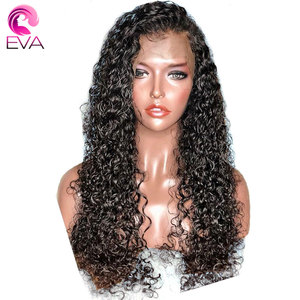 Image 2 - Eva Hair Curly Full Lace Human Hair Wigs Pre Plucked With Baby Hair Glueless Full Lace Front Wigs For Women Brazilian Remy Hair