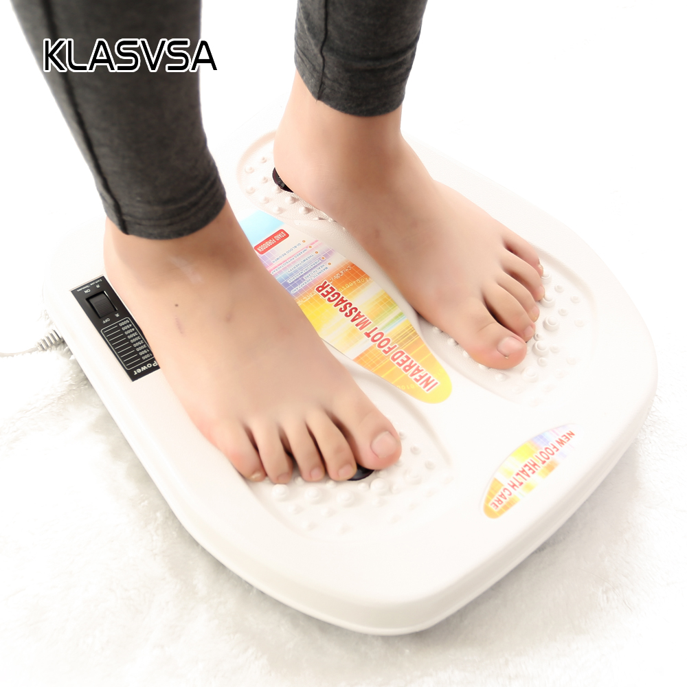 цены на KLASVSA Far Infrared Heating Foot Massage Vibration Magnetic Therapy Spa Massager Foot Electric Muscle Stimulator Health Care