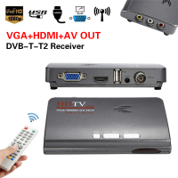 Digital HDMI DVB T T2 Dvbt2 TV Box Receiver VGA AV CVBS TV Receiver Converter With