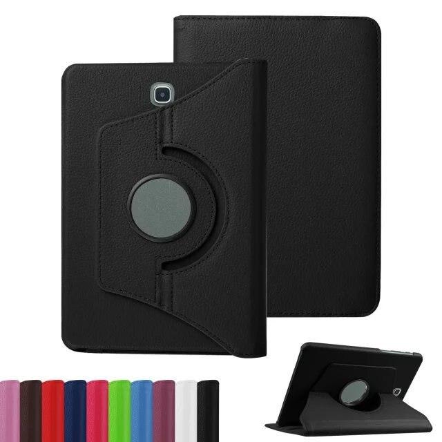 Вращающийся на 360 градусов Роскошный Фолиант Стенд поворотный кожаный чехол защитный чехол для Samsung Galaxy Tab S 2 S2 8.0 sm-t710 t715 8 ...