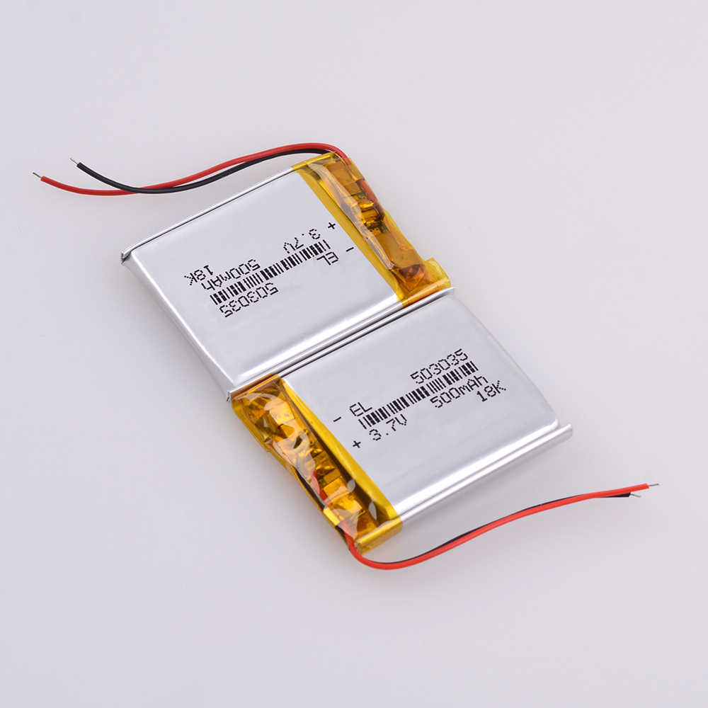 503035 3.7 v 500 mah Lithium Polymeer Oplaadbare Batterij lexand LR-5000 dvr dvr trendvision 718 ultieme dvr dod ls430w griffier