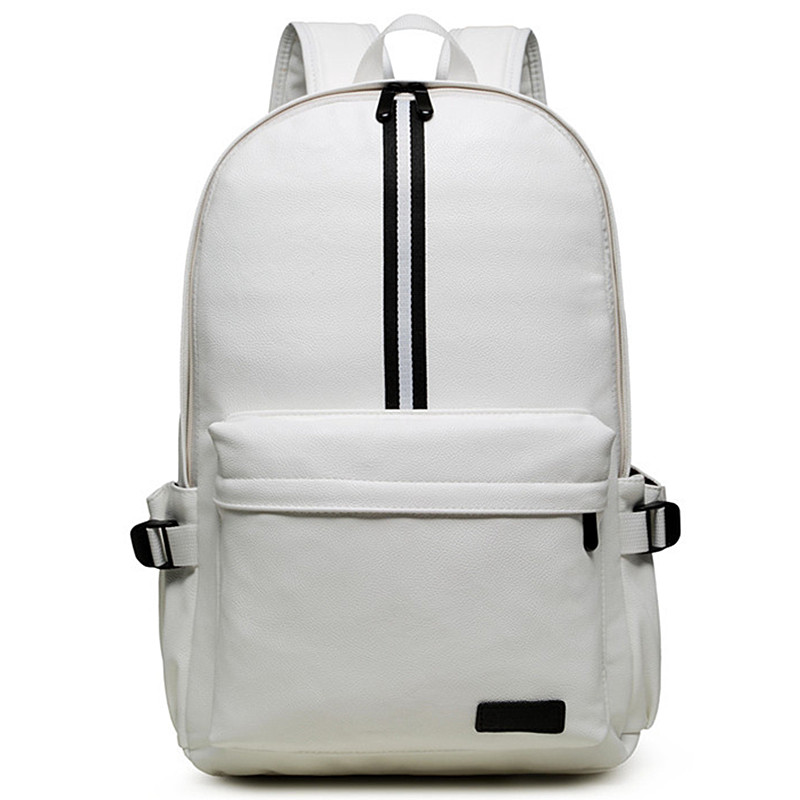 Casual Travel Backpack Leather Backpack Student School Bags for Teenagers Famous Brands Laptop Backpack White/Black Mochila Y73 roblox game casual backpack for teenagers kids boys children student school bags travel shoulder bag unisex laptop bags