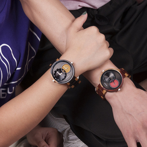 Image 4 - בובו ציפור יוקרה גברים שעון זוג שעונים שני שונה זמן אזור תצוגה עם מיוחד צבע חדש עיצוב reloj mujer C R10
