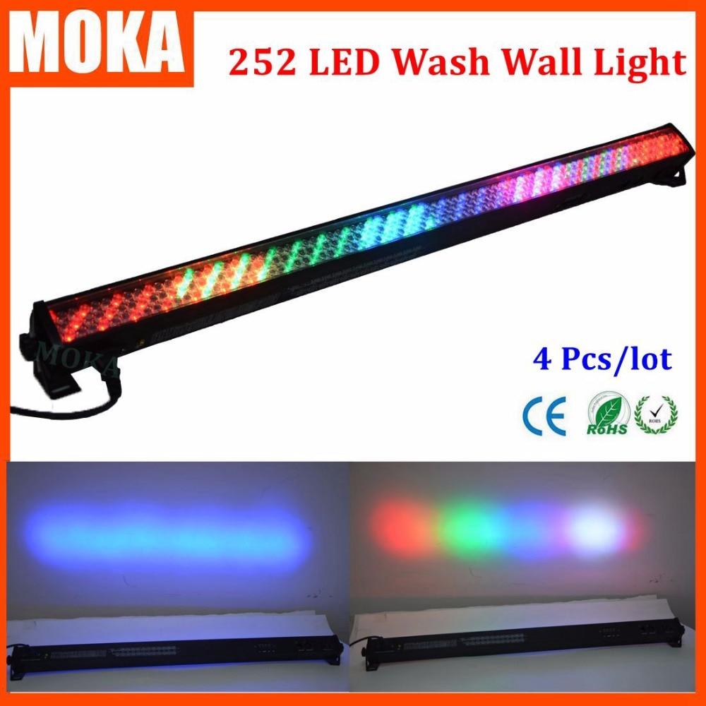 4PCS/lot 10mm 252 led wash wall light RGBW Stage DJ lighting dmx lights Stage Lighting Effect  Professional Stage & DJ