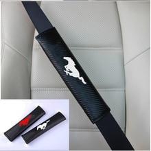 2 шт PU модный автомобильный ремень безопасности чехол автомобильный ремень безопасности Наплечные накладки для Ford Mustang