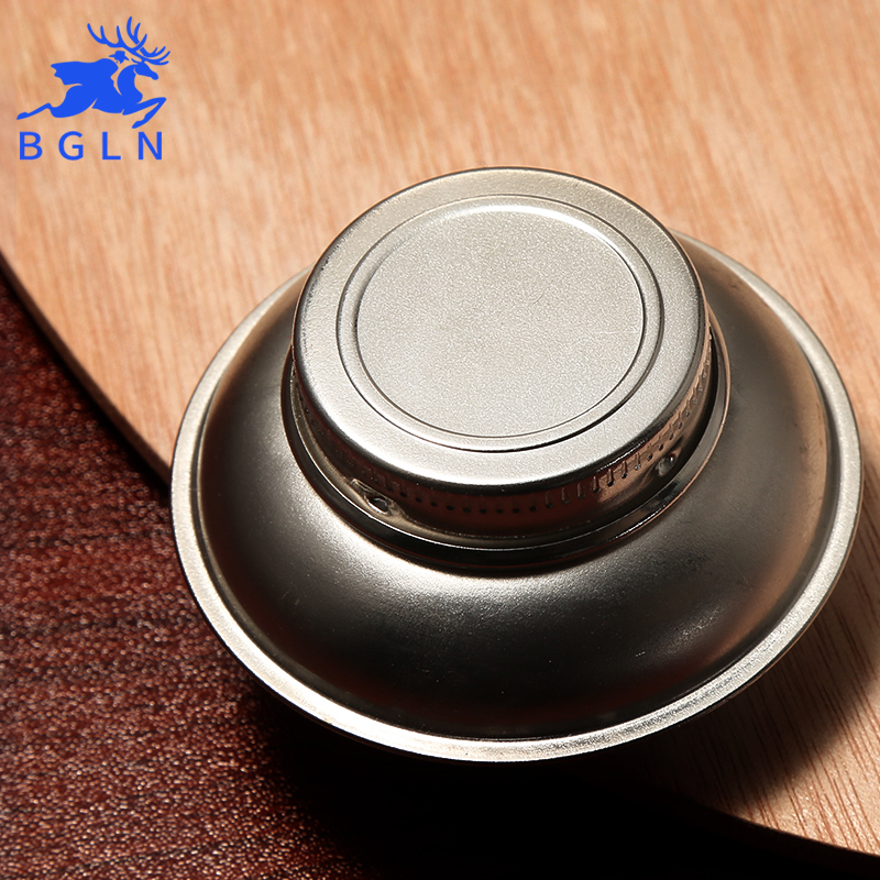 Bgln 1Piece Stainless Steel Oil Pot Single Hole Oil Palette Flat Dipper Painting Oil Pot Art Supplies F349 medical stainless steel pot oil pot