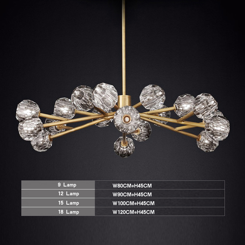 Crystal Chandelier Pure Copper