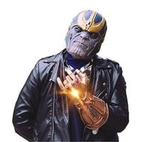 Thanos Infinity Gauntlet Avengers Infinity War Gloves Cosplay Superhero Thanos PVC Glove Halloween Glow Party Supplies