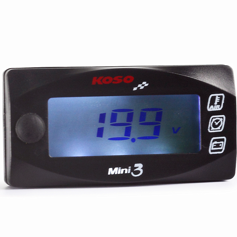Motorcycles Voltmeter Hour Meter Air Temperature For CB400 Nmax Xmax KOSO Mini LED Digital Display Quad Square Voltage Tester