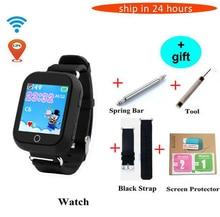 Check Price Smarcent q750 q100 GPS Smart baby Watch children's kids Smart Watch Wifi SOS Device Tracker chidren kid montre gps smart watches