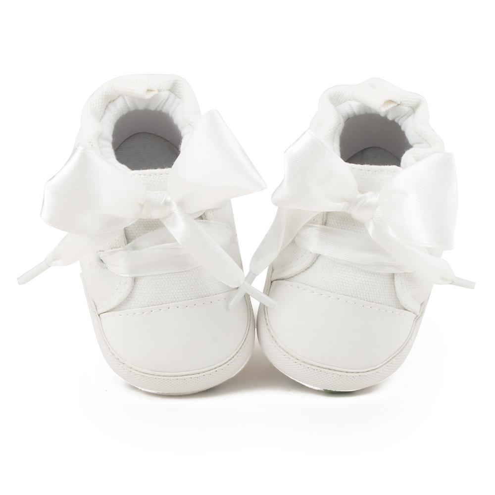 Купить с кэшбэком Delebao Lace Lace-up Baby Shoes Autumn/Spring Cotton Soft Sole Toddler Shoes For 0-18 Months Newborn First Walkers Wholesale
