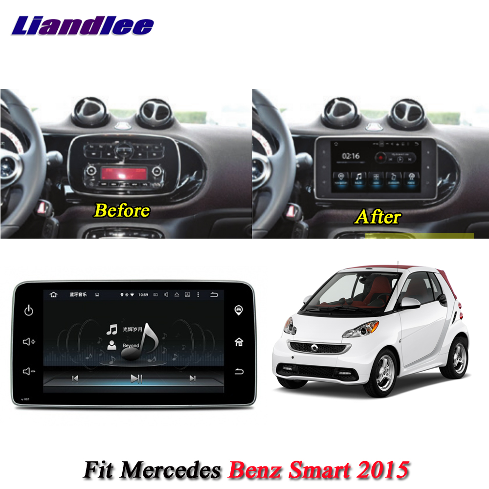 Liandlee Car Android System For Mercedes Benz Smart 2015 Radio GPS Navi Navigation BT Carplay HD Screen Multimedia No DVD Player цена