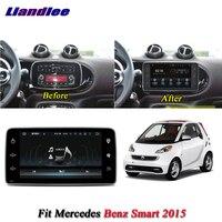 Liandlee Car Android System For Mercedes Benz Smart 2015 Radio GPS Navi Navigation BT Carplay HD Screen Multimedia No DVD Player